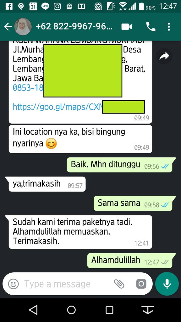 Testimoni Dapoer Aqiqah Bandung 090218