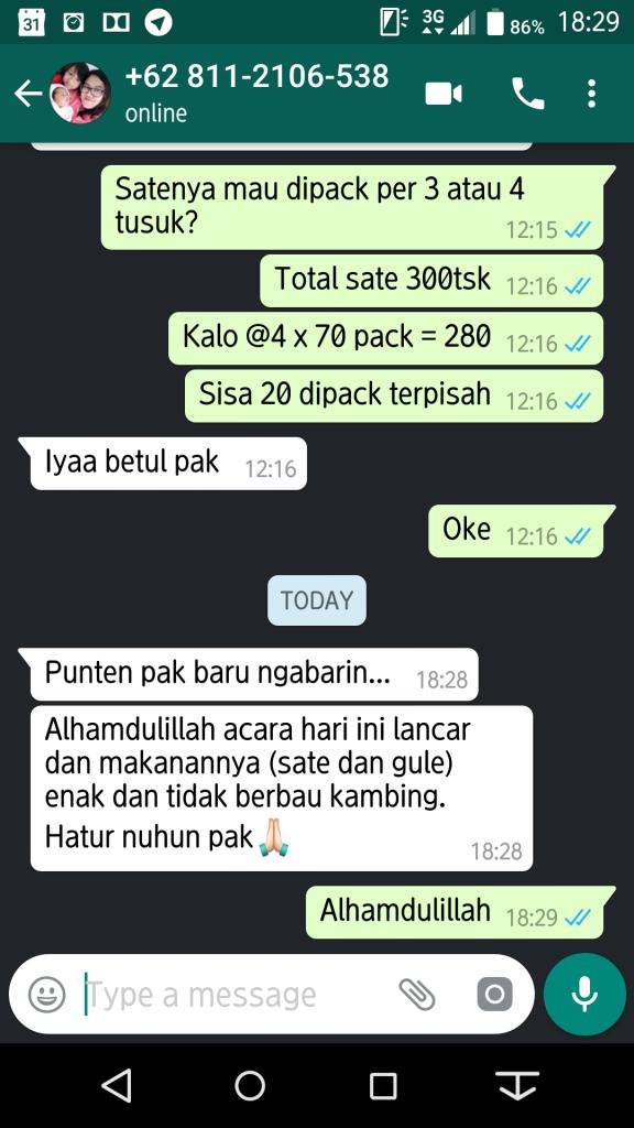 Testimoni Aqiqah Bandung 2 Juli 2018